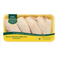 Sanderson Farms Fresh Split Chicken Breast with Ribs, Value Pack, 4.00-6.00 lb