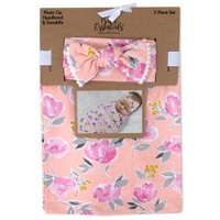 Baby Essentials Primrose Floral Swaddle Blanket and Headband
