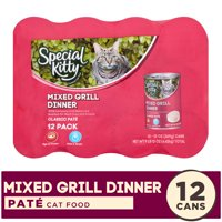 Special Kitty Classic Pate Mixed Grill Dinner Premium Cat Food, 13 oz, 12 count
