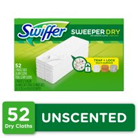 Swiffer Sweeper Dry Sweeping Pad Refills, Unscented, 52 Count