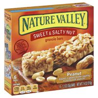 Nature Valley Chewy Granola Bars, Sweet & Salty Nut, Peanut