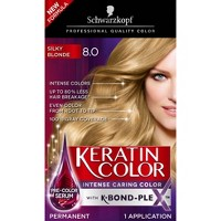Schwarzkopf Keratin Color Permanent Hair Color Cream - 2.03 fl oz - 8.0 Silky Blonde