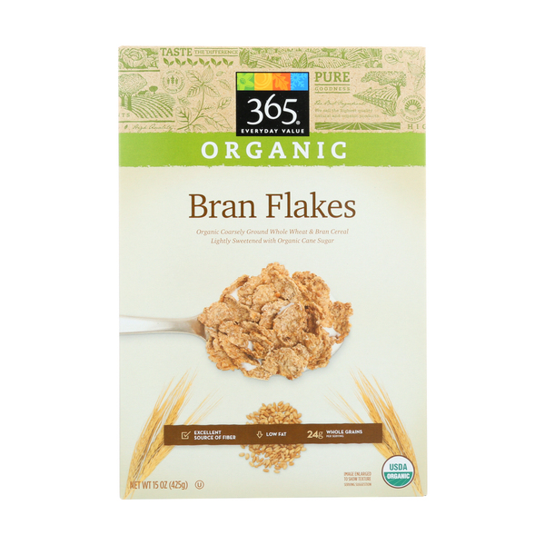 365 everyday value® Organic Bran Flakes Cereal, 15 oz