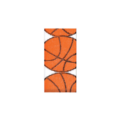 Offray 7/8' Grosgrain Basketball Sports Print Craft Ribbon, 9 Ft.