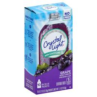 Crystal Light Grape On-The-Go Powdered Drink Mix with Caffeine