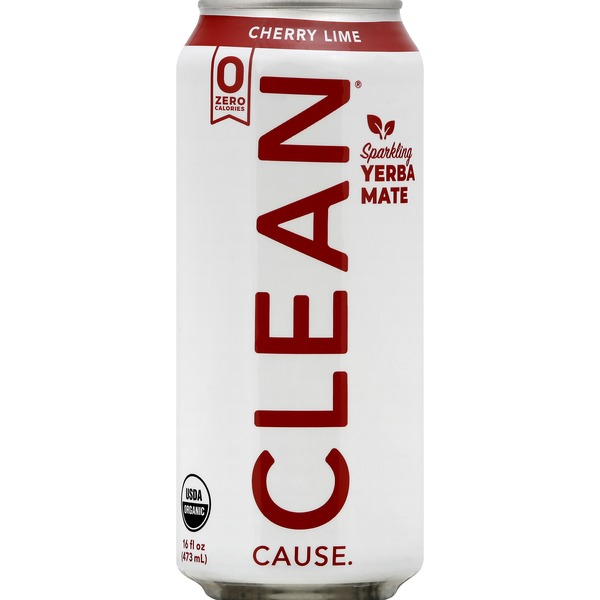 Clean Cause Yerba Mate, Cherry Lime, Sparkling