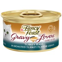 Fancy Feast Gravy Wet Cat Food, Gravy Lovers Turkey Feast in Roasted Turkey Flavor Gravy, 3 oz. Can