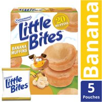 Entenmann's Little Bites Banana Muffins, Made with Real Bananas, 5 pouches