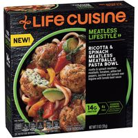 Life Cuisine Ricotta & Spinach Meatless Meatballs Pasta Bowl Frozen Meal