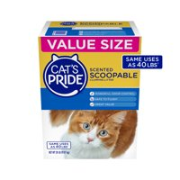 Cat's Pride Scoopable, Scented Lightweight Clumping Litter, Flushable, 20 lbs.