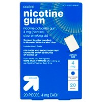 4mg Coated Nicotine Gum Stop Smoking Aid - Mint Freeze - 20ct - Up&Up™