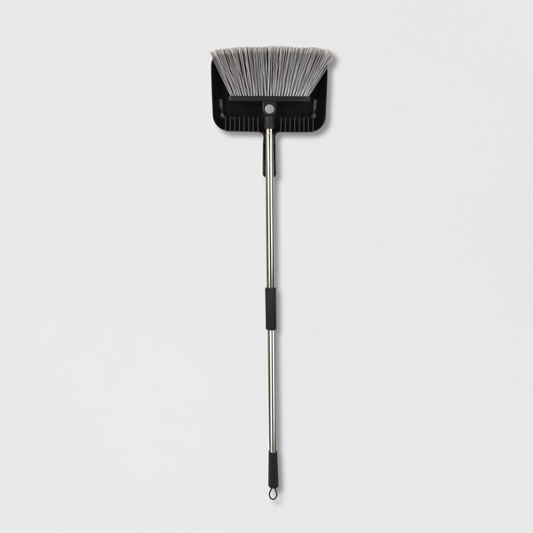 Rotating Head Floor Broom with Clip-on Dust Pan - Made By Design™