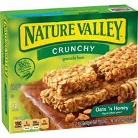 Nature Valley Granola Bars, Oats 'n Honey, Crunchy