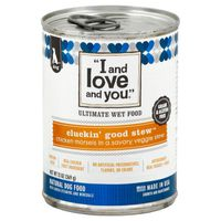 """""""I and love and you."""" Ultimate Wet Food Cluckin Good Stew Natural Dog Food"""