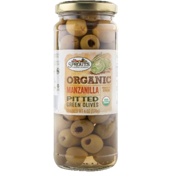 Sprouts Organic Manzanilla Pitted Green Olives
