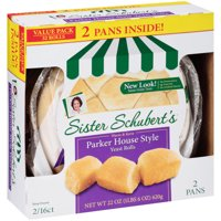 Sister Schubert's Parker House Style Yeast Rolls, 32 count, 22 oz