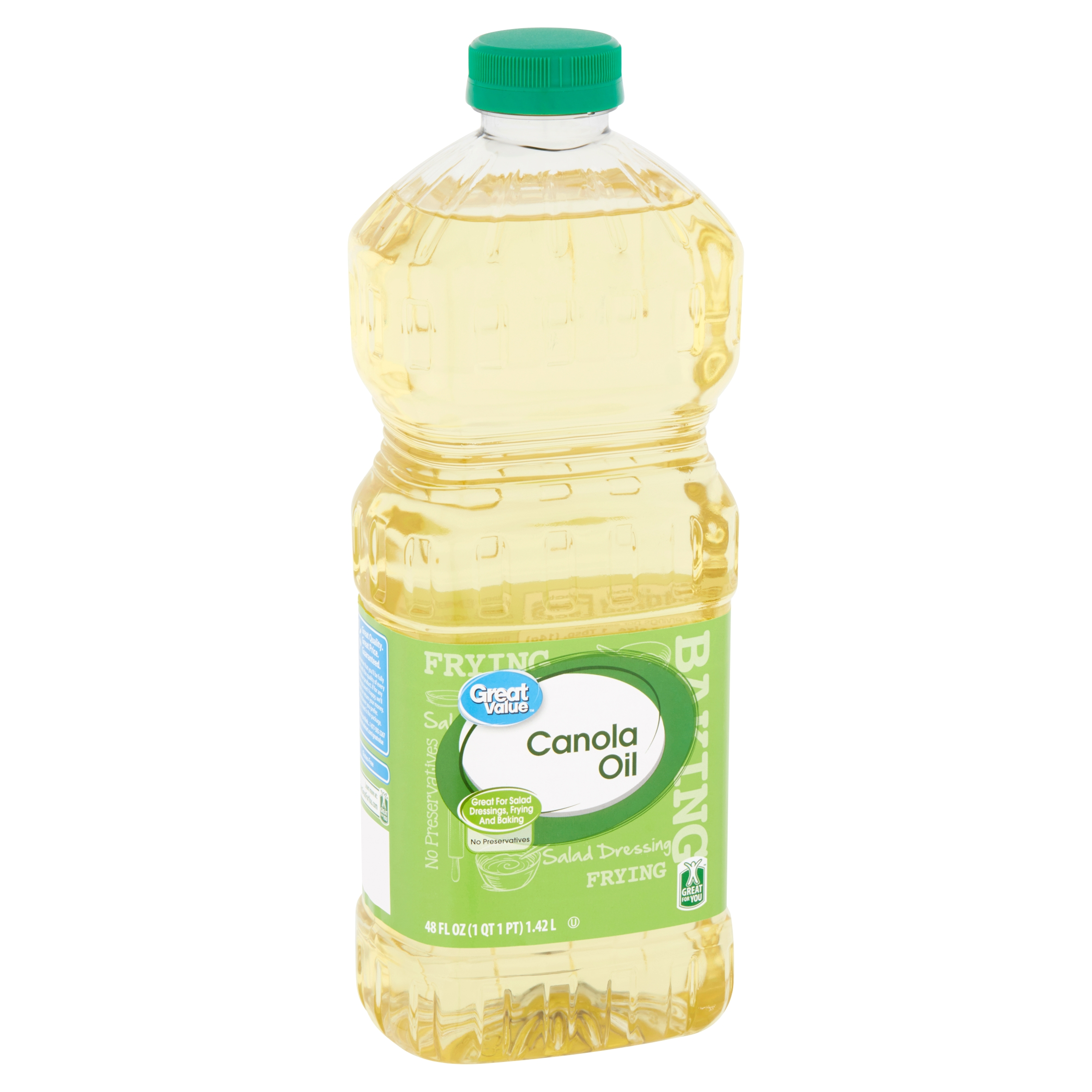 Great Value Canola Oil, 48 fl oz