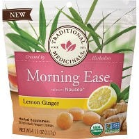 Traditional Medicinals Morning Ease Lemon Ginger Lozenges - 30ct