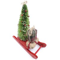 Holiday Time Red sled w/Tree &gftbx Orn