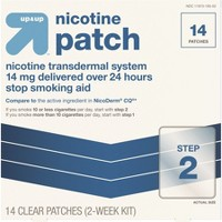 Nicotine Stop Smoking Aid Clear Patches Step 2 - 14ct - Up&Up™