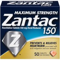Zantac Maximum Strength Tablets Acid Reducer