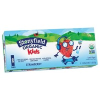 Stonyfield Organic YoKids Low Fat Strawberry Kids' Yogurt Squeezers - 2oz/8ct