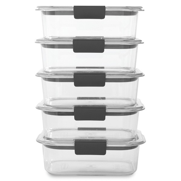Rubbermaid Brilliance 5pk 3.2 cup Airtight Food Storage Container Set