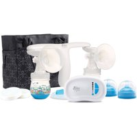 The First Years Quiet Expressions Plus Double Breast Pump Rechargeable Electric Breast Pump