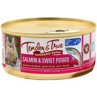Tender And True Pet Food Salmon & Sweet Potato Sustainable Seafood Cat Pate Wet Cat Food