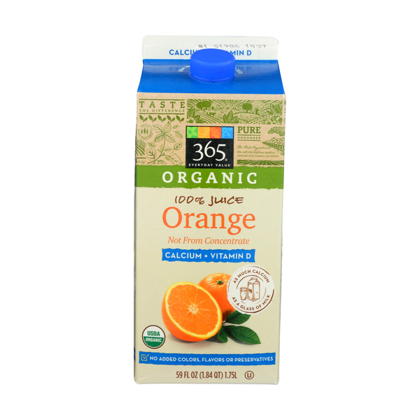365 everyday value® Calcium + Vitamin D Orange Juice, 59 FL OZ