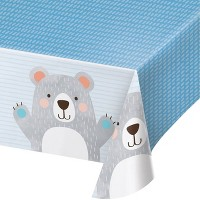 Bear Print Disposable Plastic Tablecloth