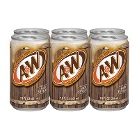 A&W Root Beer - 6pk/7.5 fl oz Cans