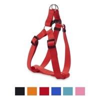 Vibrant Life Solid Nylon Step-In Dog Harness, Red, 22-36 in