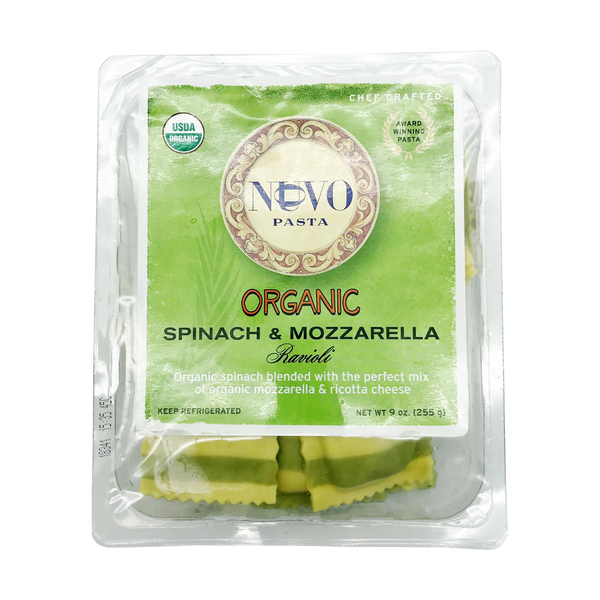 Nuovo pasta Organic Spinach And Mozzarella Ravioli, 9 oz
