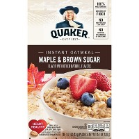 Quaker Instant Oatmeal Maple & Brown Sugar - 10ct