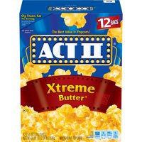 ACT II Xtreme Butter Microwave Popcorn 2.75 Oz 12 Count