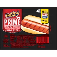 Ball Park Prime Beef Hot Dogs - 4ct/10.64oz