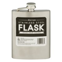 Soft Drinks Stainless Steel Flask, 8 oz