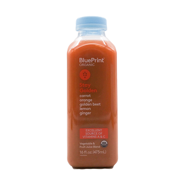 Blueprint Carrot, Golden Beet, Orange, Ginger, Lemon Cold Pressed Juice, 16 fl oz