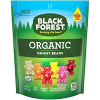 Black Forest Organic Gummy Bears 8oz Resealable Stand Up Bag