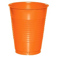 20ct Sunkissed Orange Disposable Cups