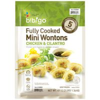 Bibigo Chicken & Cilantro Fully Cooked Mini Wontons, 48 oz