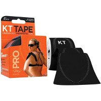 """KT Tape Pro 10"""" Precut Kinesiology Therapeutic Elastic Sports Roll - 20 Strips"""
