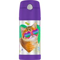 Thermos Vacuum Insulated Stainless Steel 12 Ounce Funtainer with Straw - Cat