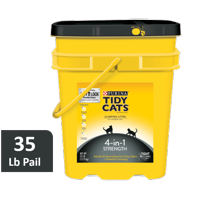 Purina Tidy Cats 4-in-1 Strength Clumping Cat Litter, 35-lb Pail