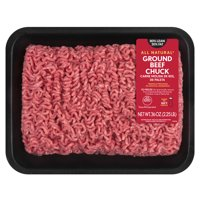 All Natural* 80% Lean/20% Fat Ground Beef Chuck Tray, 2.25 lb