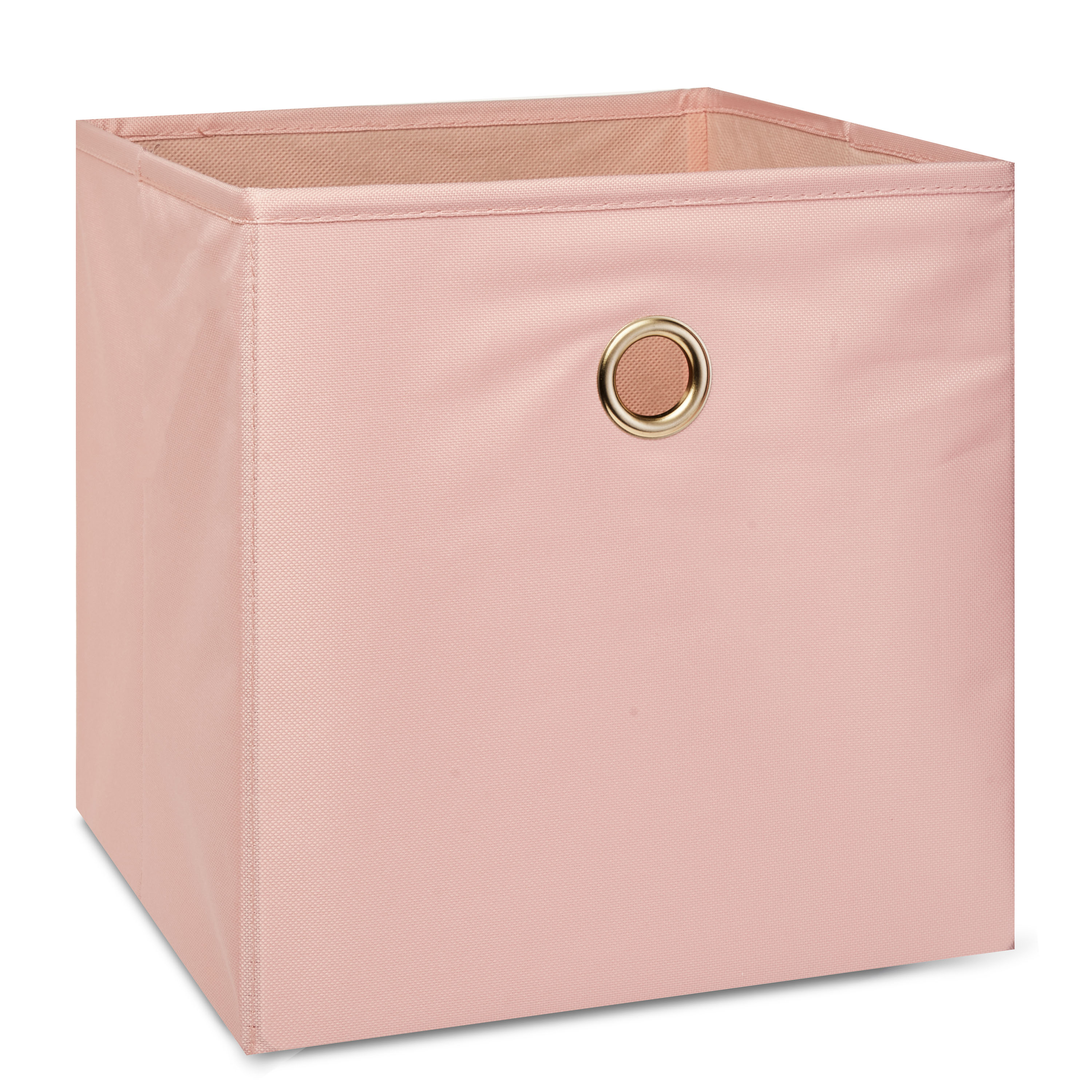 Mainstays Collapsible Fabric Cube Storage Bin, Pearl Blush