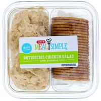 H-E-B Chef Prepared Foods Rotisserie Chicken Salad With Crackers