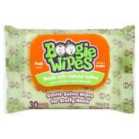 Boogie Wipes Saline Wipes, Fresh Scent