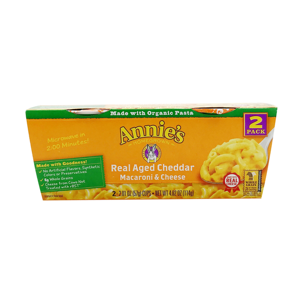 Annie's homegrown Organic Aged Cheddar Macaroni And Cheese (2 Pack), 4.02 oz